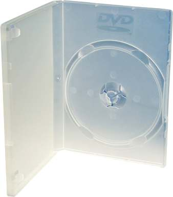 CAJA CONFORT PACK SLIM TRANSPARENTE PARA 1 CD / DVD